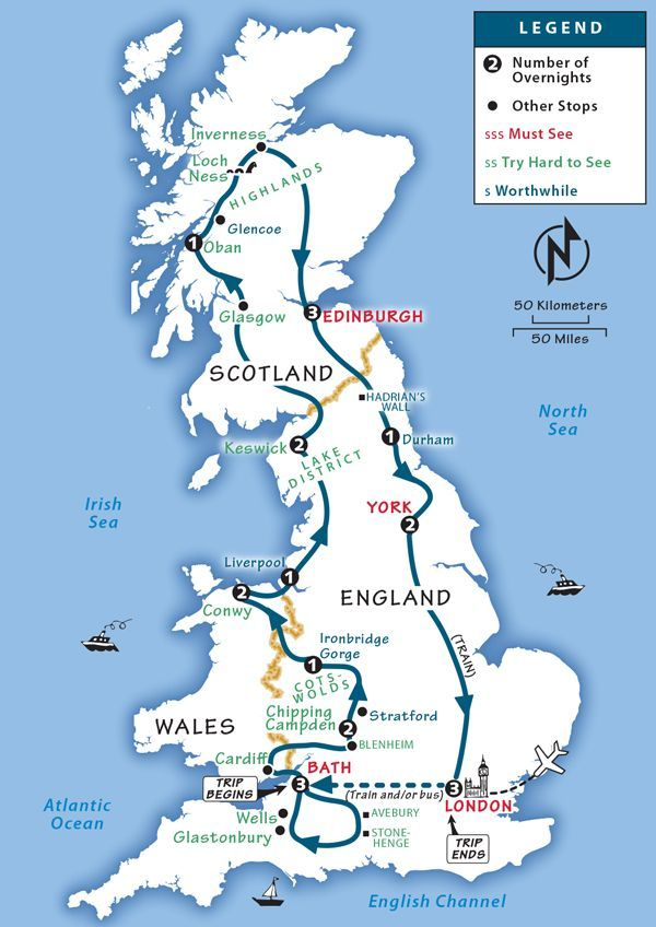 Where Is London On The Map Of England.Great Britain Itinerary Where To Go In Great Britain By Rick Steves