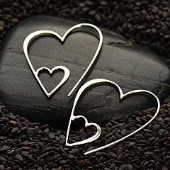 Sterling Silver Heart Hook Earring Adorable wire hook earrings in the shape of a heart are sure to make you feel warm and fuzzy. These cute earrings