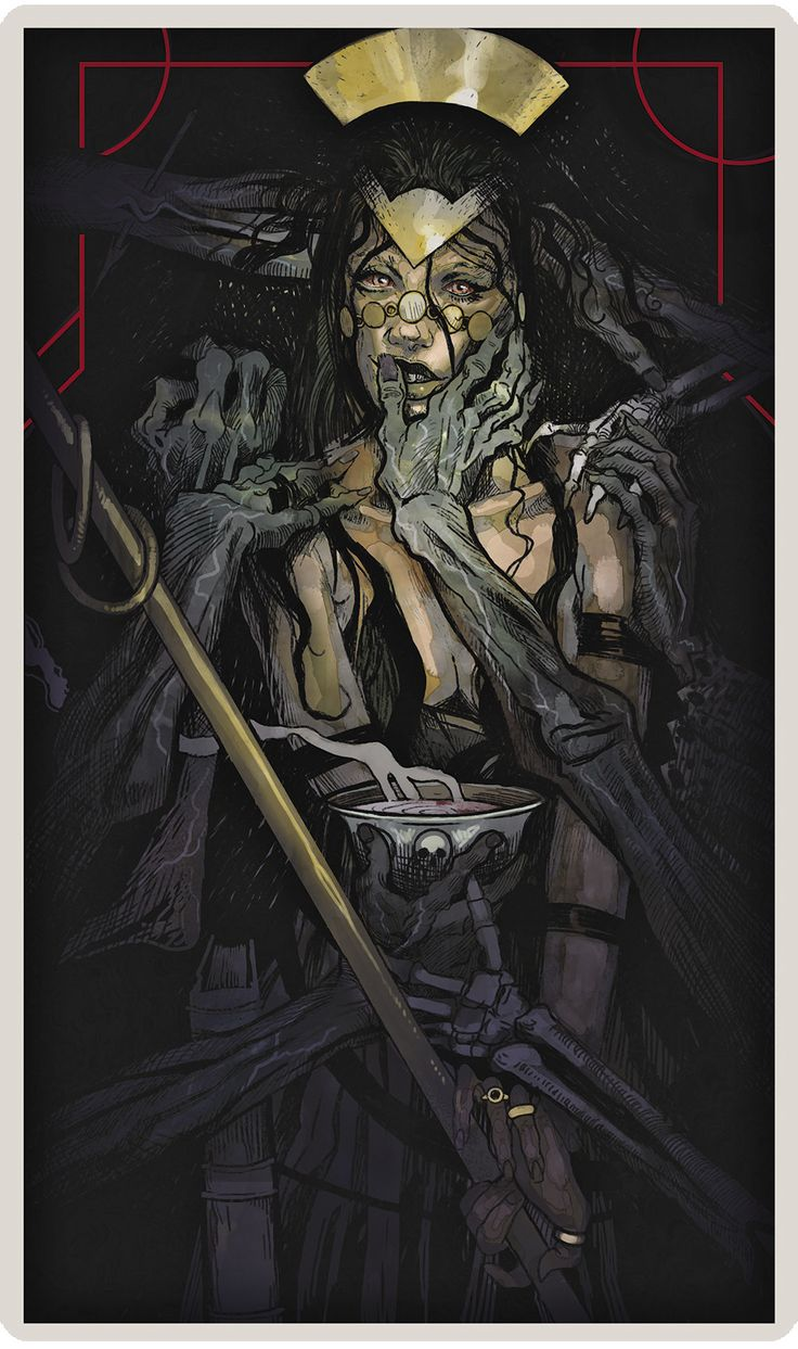 Dragon Age Inquisition character tarot cards - The Necromancer