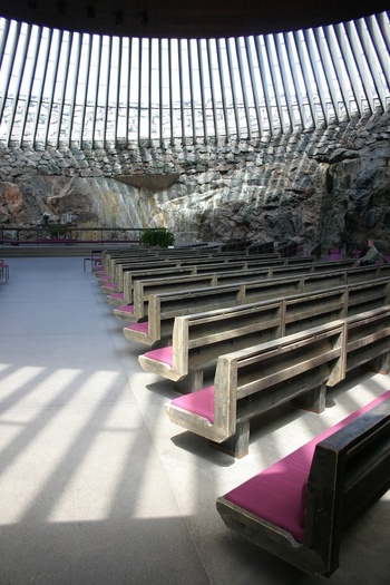 Temppeliaukio Kirkko (The Rock Church) in Helsinki. Beautiful and well worth a visit if you ever get the chance.