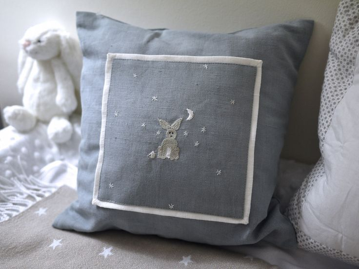 Midnight Star-Gazer nursery cushion by LittlePannacotta on Etsy