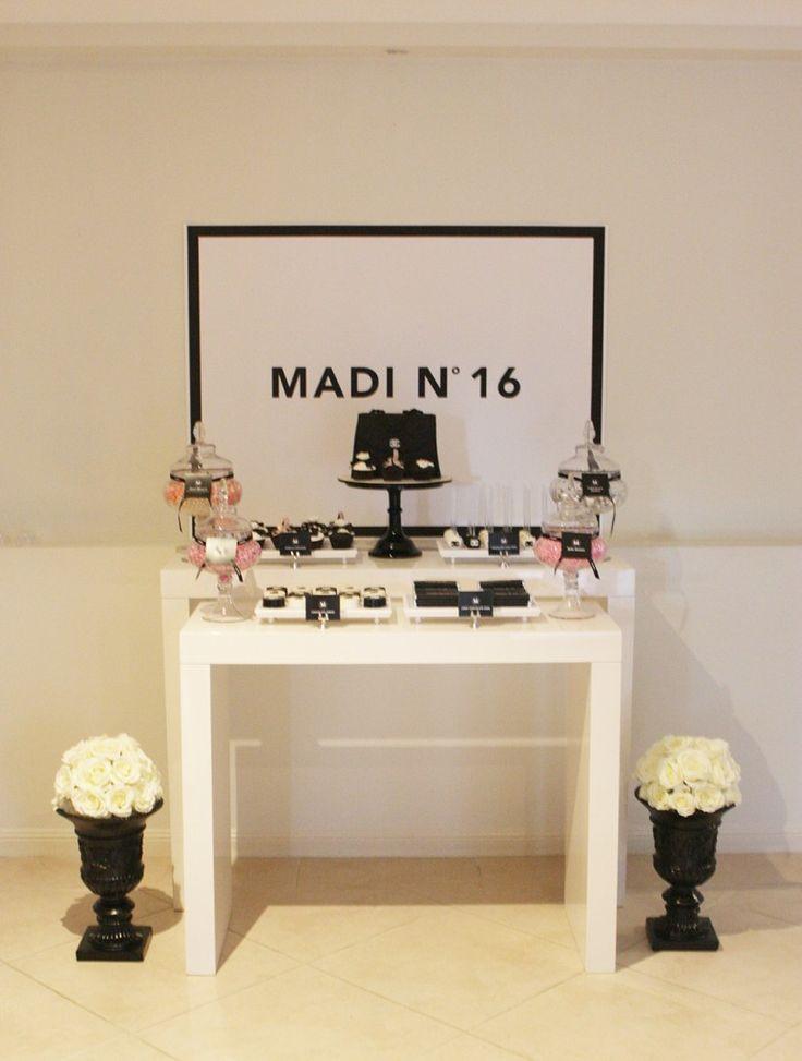 Sweet 16 Chanel inspired dessert table