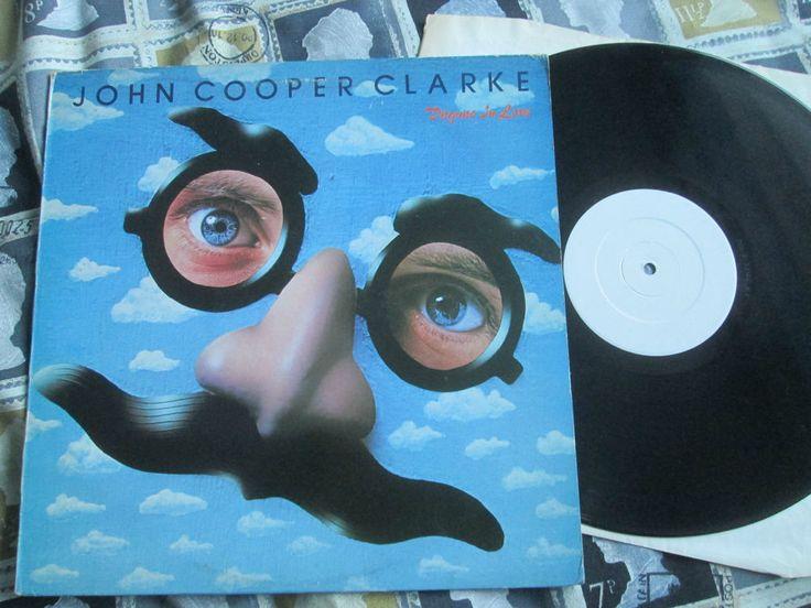 John Cooper Clarke  Disguise In Love WHITE Label UK promo vinyl album punk era poet   Martin Hannett, Steve Hopkins Pete Shelley Bill Nelson Paul Burgess  CBS 8313 UK Vinyl LP Album