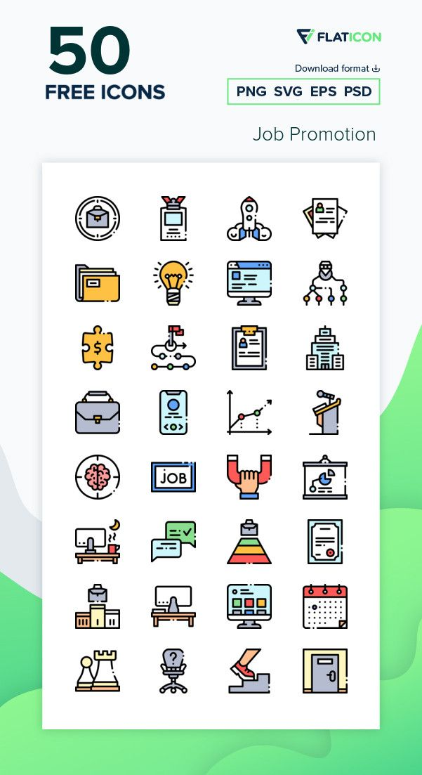 50 Free Vector Icons Of Job Promotion Designed By Freepik Icon Job Promotion Free Icon Packs
