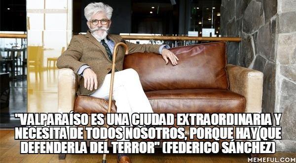 """""""Valparaíso es una ciudad extraordinaria y necesita de todos nosotros, porque hay que defenderla del terror"""" (Federico Sánchez)"""