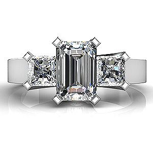 Emerald Cut Diamond Rings | Anniversary Rings, Diamond Rings, Diamond Eternity Bands by Jewelry ...