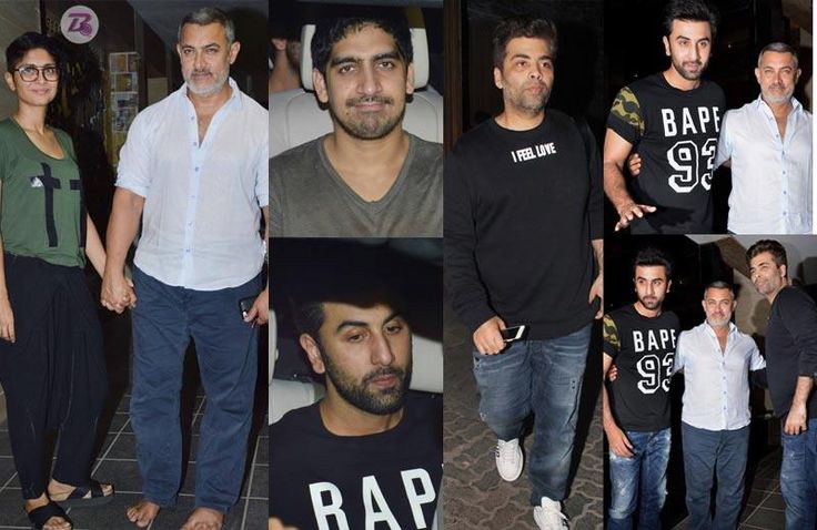 Karan Johar, Ranbir Kapoor and Ayan Mukerji pay a visit to injured Aamir Khan