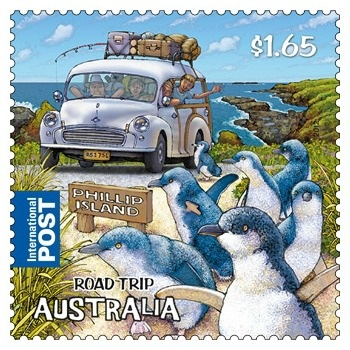 Little Penguins on the Australia Road Trip Stamp