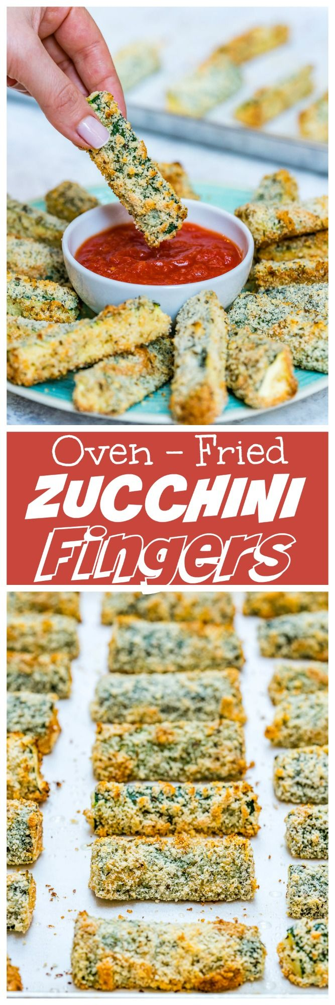 Oven Fried Zucchini Fingers are the PERFECT Clean Eating Party Food! - Clean Food Crush