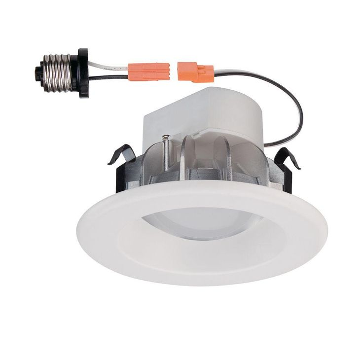 Commercial Electric 4 in. White LED Recessed Trim-CER4741AWH30 - The Home Depot
