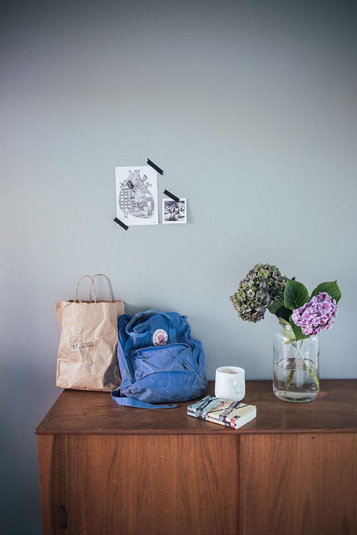 Color - dov grön/grå färg med nr S 3005-G20Y från Jotun. Minty Breeze http://lovelylife.se/blogs/tant-johanna/sovrum-del-2