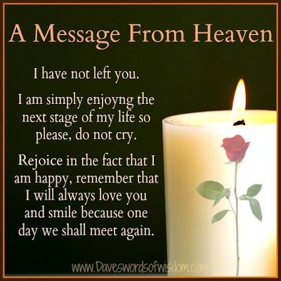 Daveswordsofwisdom.com: A Message From Heaven.