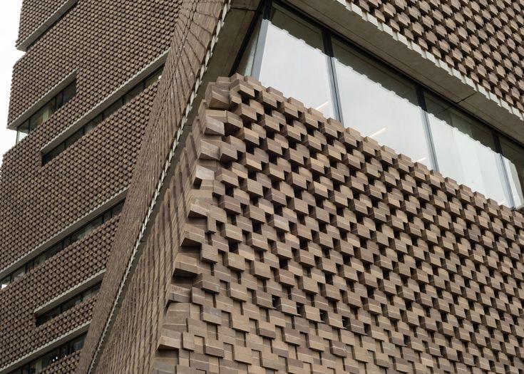 Switch House by Herzog & de Meuron features an exterior of latticed brickwork