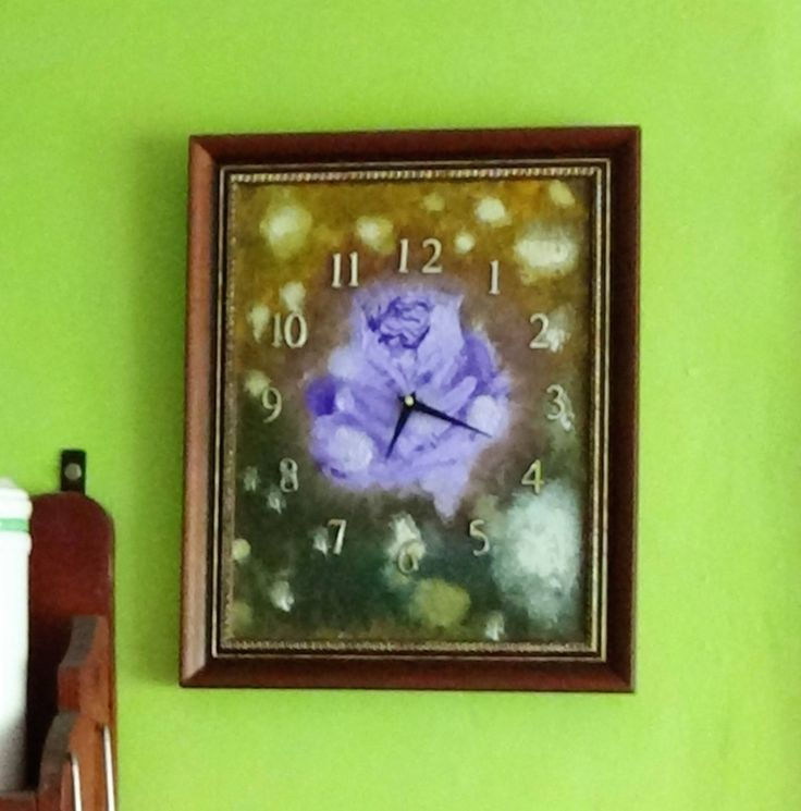 Modern Framed Wall Clock,Oil painted clock face Wedding,Trending Gift,Wood Clock,Wall Hanging, Gift for Her,Gift for Him by TheArtWorkShop37 on Etsy