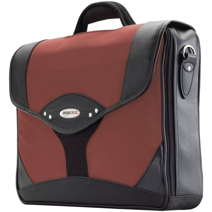 """Mobile Edge 15.6"""" Pc And 17"""" Macbook Select Briefcase (dr. Pepper Red)"""