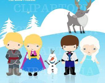 Princesitas pequeñas princesas digital clipart Para por ClipArtopia