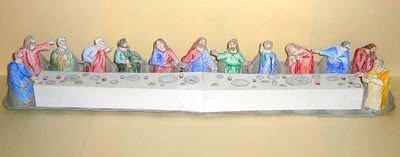 last supper craft - maundy thursday activity recommended by   HowToHomeschoolMyChild.com