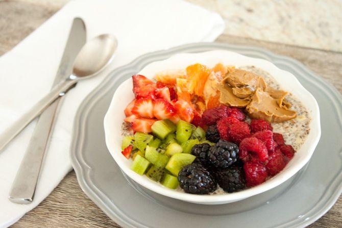 Sweet Breakfast Bowl with Chia Seed Porridge - Simple Roots