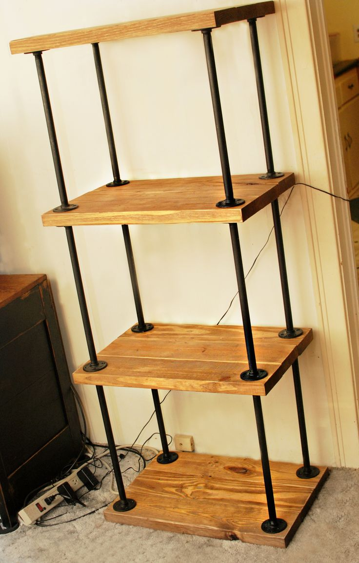 pipewood bookcase do it yourself home projects from ana white iron pipe furniture