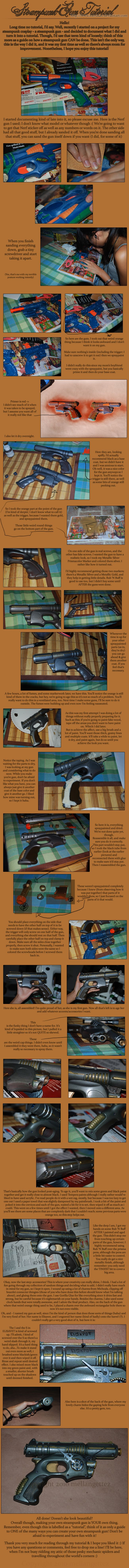 Simple Steampunk gun tutorial  Do you have a nerf gun picked out yet @Anna Totten Totten Torner-Boron