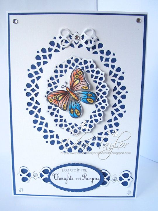 Tonic Verso die card - delicate lattice pattern