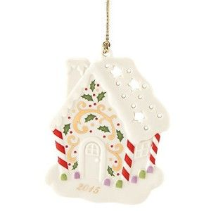 Lenox Joyous Tidings Gingerbread House Ornament