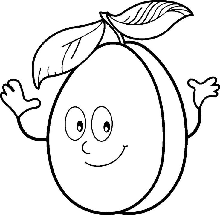 Realistic Fruit Coloring Pages With Pictures Of Printable