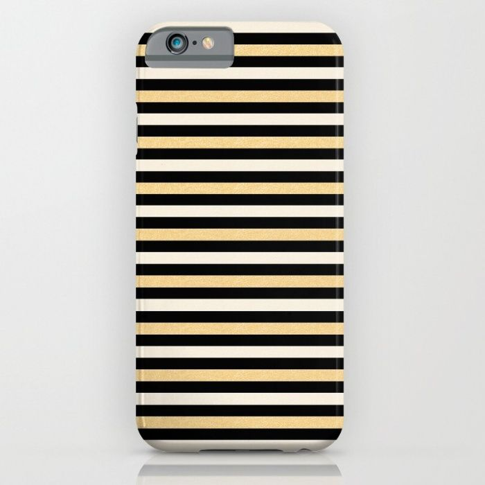 Black and Gold Stripes iPhone & iPod Case by JumperCat   Society6