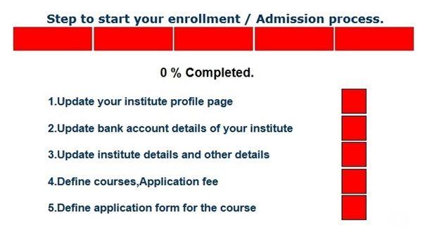 Online Admission Process Steps