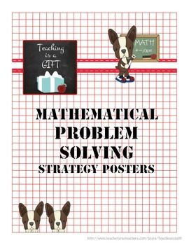 Problem Solving Strategy Posters: FREEBIE.  Great for all grades!