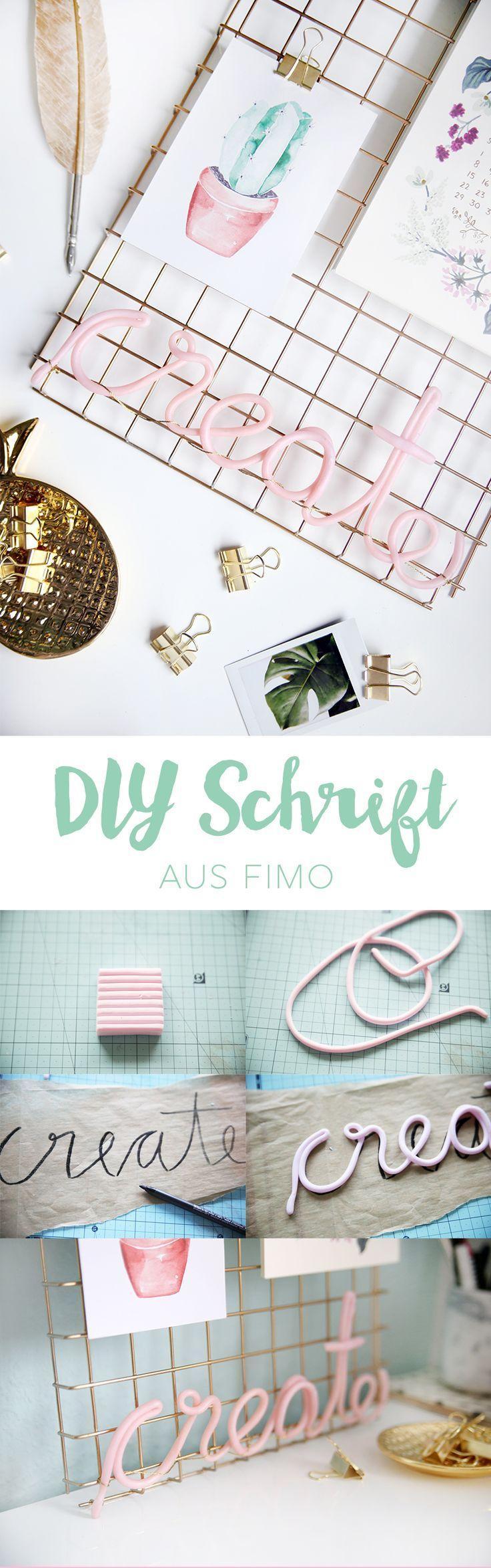 Charmant Kreative DIY Idee Zum Selbermachen: Schriftzug Aus Fimo Basteln