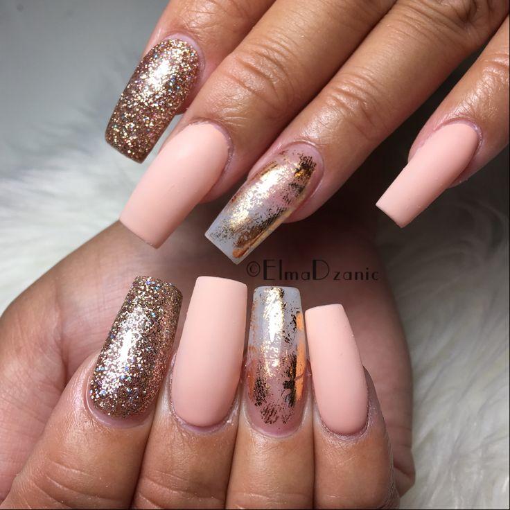 The 25 best foil nail art ideas on pinterest foil nail designs neutral nails matte nails gold glitter nails foil nails gold flake nails prinsesfo Gallery