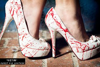 Great Dexter,Zombie,True Blood,Vampire high heels for Halloween! Would wear these year round