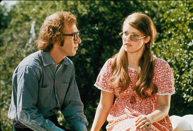 """Bananas - Woody Allen ... I think this is from one of my favorite scenes/lines ... he's pouring out his heart and telling her how much she means to him and how much he loves her, and after an awkward silence, she responds by saying, """"Do you have any gum?"""" .... Classic line!"""