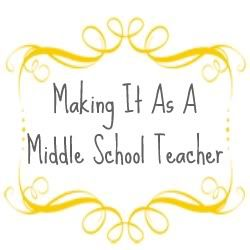 Making It As A Middle School Teacher You'll find lessons and activities for Math, Science, and Social Studies, as well as ideas for all the other 'stuff' we have to do - like Bullying Prevention, Advisement Programs, etc.... Along the way, I'll also share strategies for staying organized and motivated so you can Make It!