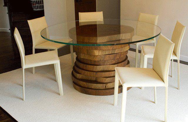 1000 id es sur le th me table ronde en verre sur pinterest. Black Bedroom Furniture Sets. Home Design Ideas