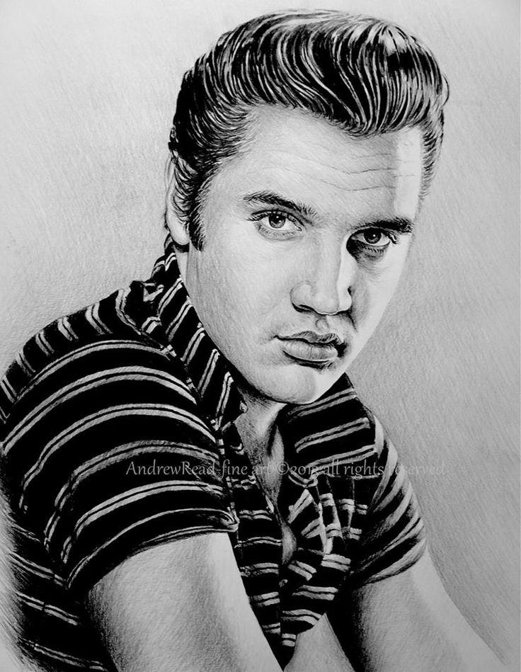 Drawing by Andy Read : Elvis Presley