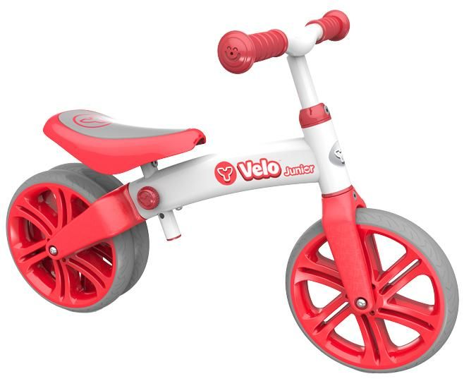 Introduce your kids to the world of cycling on the Y Velo Junior Balance Bike Red - 9inch.