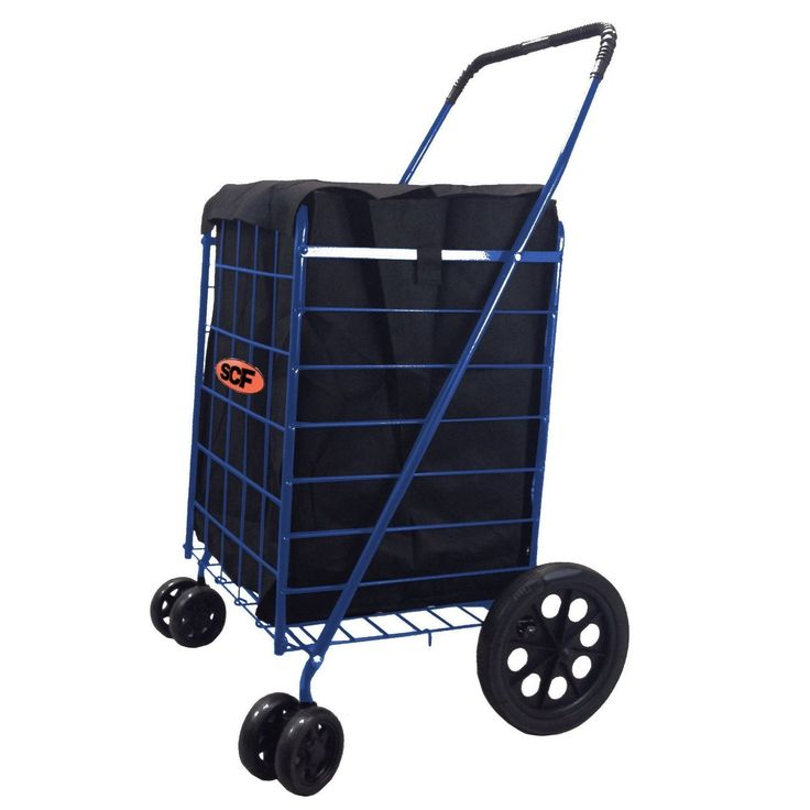 Swivel Folding Shopping Cart with Liner
