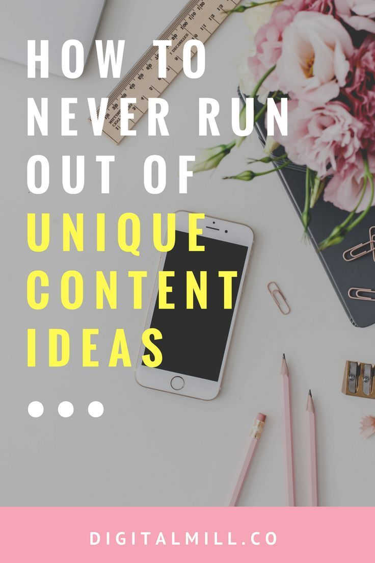 Content planning tip to come up with unique content ideas for bloggers and online business owners.