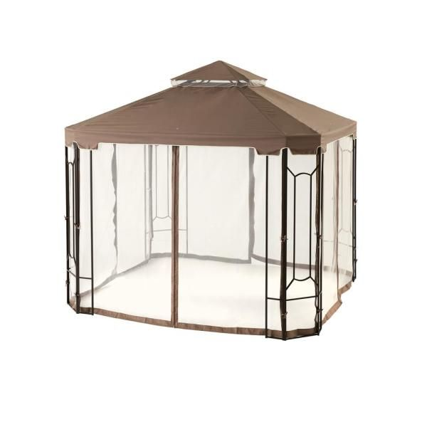 Hampton Bay 10 Ft X 10 Ft Outdoor Patio Cottleville Gazebo Gfs00744a The Home Depot In 2020 Gazebo Steel Gazebo Hampton Bay