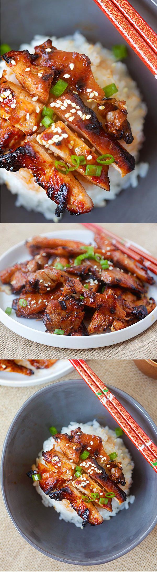 Spicy Korean Chicken by rasalamalaysia: Amazing and super yummy chicken with spicy Korean marinade. So easy to make, cheaper, and better than takeout. #Chicken #Spicy #Korean