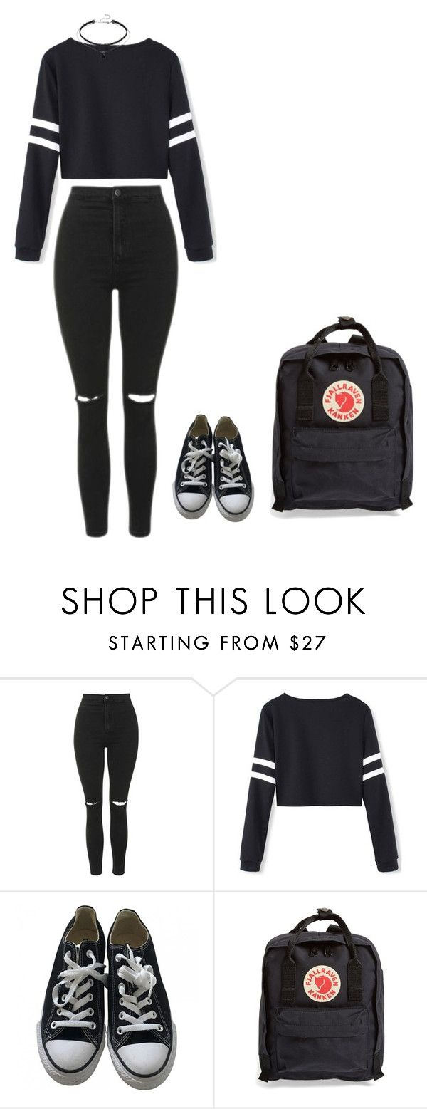 """""""Untitled #73"""" by lihe400 on Polyvore featuring Topshop, Converse and Fjällräven"""