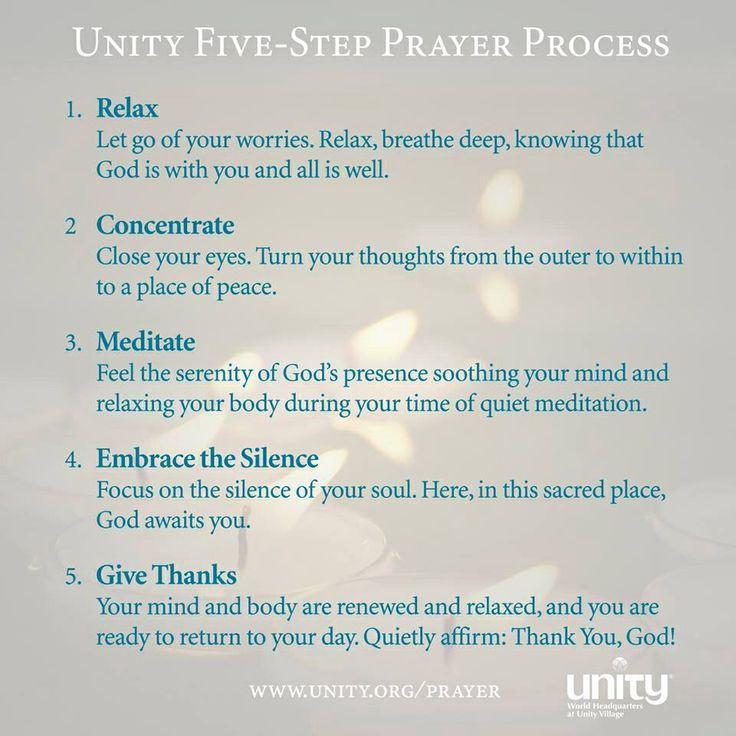 Meditation as Prayer - Unity Church - Silent Unity.  Meditation makes mind-control much easier.