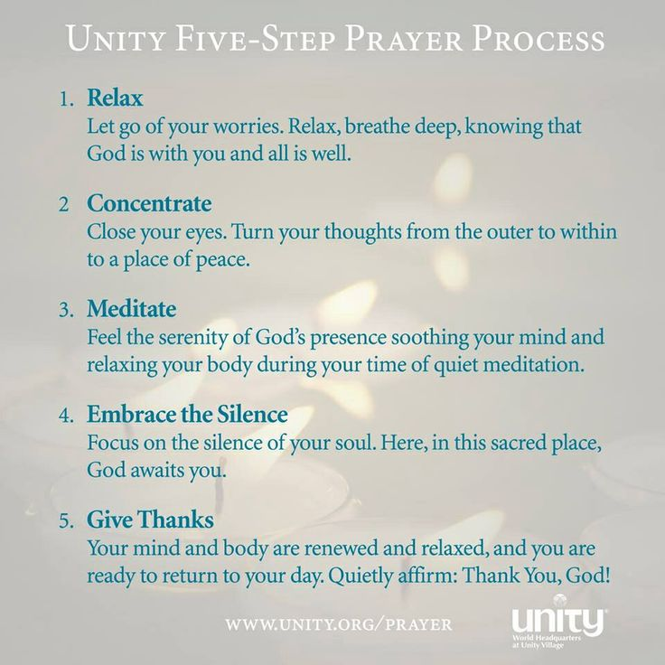 Meditation as Prayer - Unity Church - Silent Unity.  Meditation makes mind-control much easier.