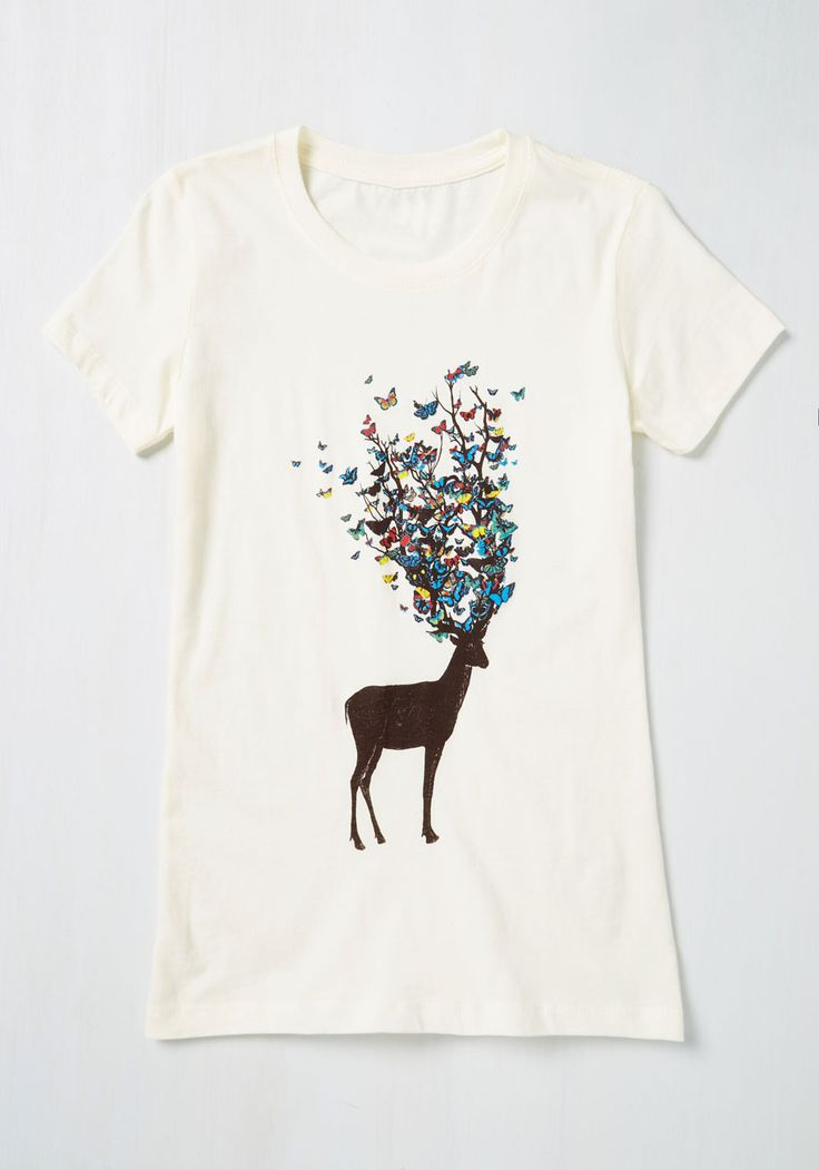 That's My Final Antler Tee. Are you questioning if theres a top that exists to satisfy your want for whimsy? #brown #modcloth