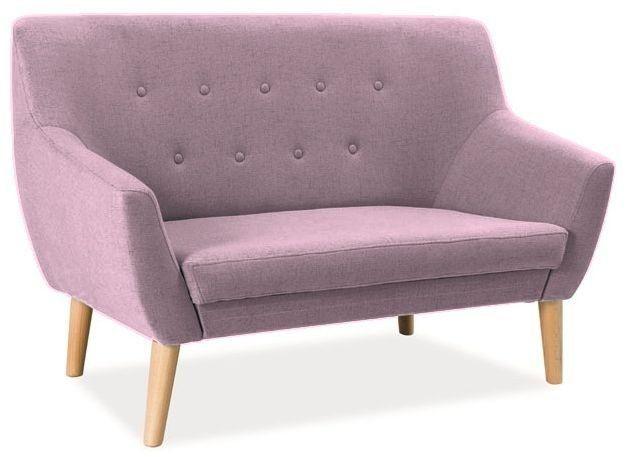 Köp - 3599 kr! Aliana 2-sits soffa - Rosa. Soffa i tyg, färg rosa / ram, trä, färg: bok.Mått