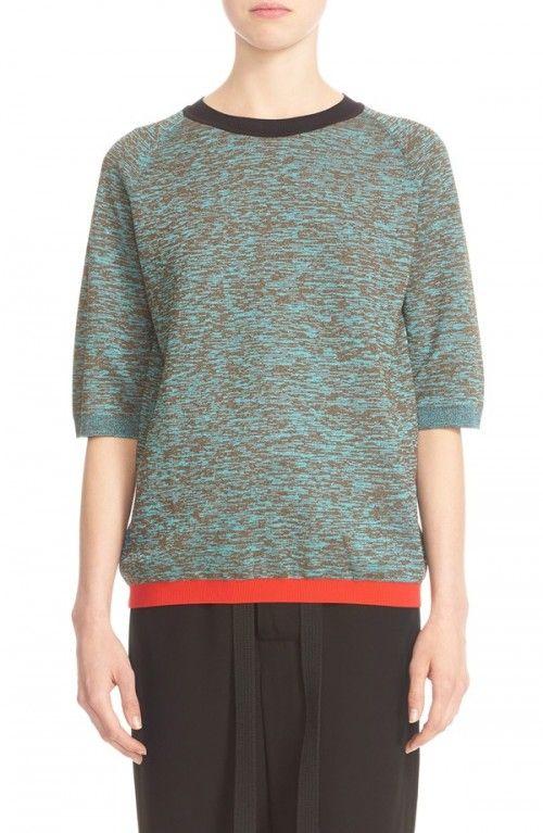 Marni+Women's+Contrast+Trim+Wool+Blend+Sweater+|+Clothing
