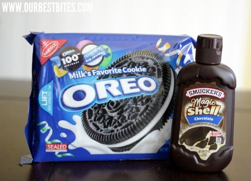 How to make those ice cream cake chocolate cookie crunchies! (Oreos and Magic Shell or the healthier version of coconut oil and high quality chocolate and Oreos)