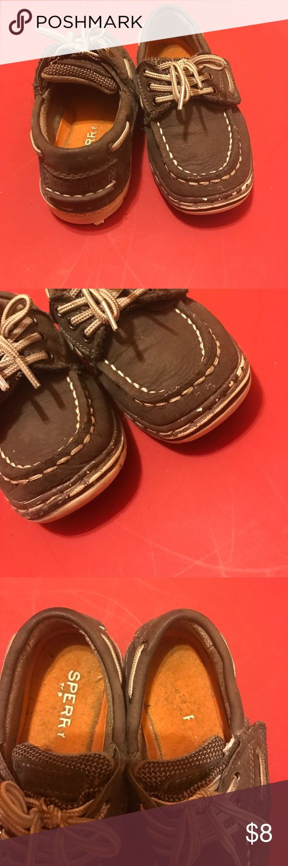 Toddler sperrys. I was a little hesitant about posting these but considering the fact that there are WORST posh posts, I figured why not. The sole is dirty, and around the shoe ( the lower leather), the color is coming off. But it can be fixed I'm sure.. Sperry Shoes